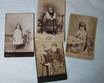 Antique Photographs Cabinet Cards little girls