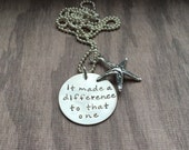 Starfish Poem It Made It A Difference To That One Necklace Social Work