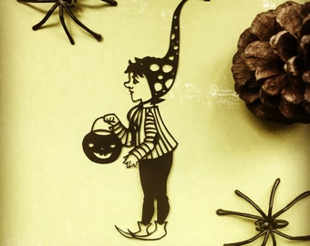 Original Papercut - Halloween Gnome