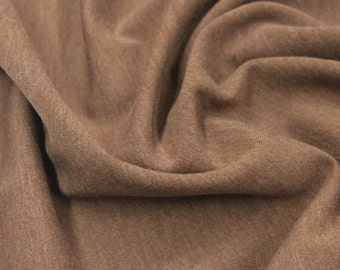 Cotton Spandex Knit in Brown - 1 yard - Cotton Fabric / Fabric by Yard / New Fabric / Spandex / Spandex Yardage / Apparel Fabric