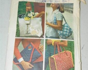 Vintage Simplicity Purse Handbag Tote pattern 7004 11737 1970's