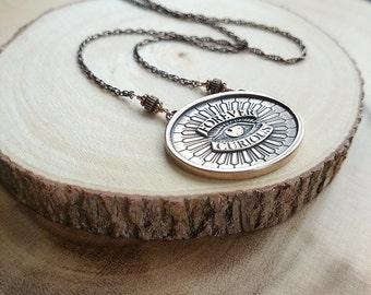 Forever Curious Pendant | Bronze