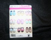 Simplicity 2491, New, Uncut Baby Shoe Sewing Pattern by SEWBUSY12