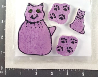 Cats  -  Kiln Fired Handmade Ceramic Mosaic Tiles to use in your Designs M3390