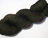 hand dyed yarn - Shimmer Sock - Bitter Olive colorway