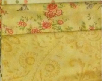 Moda Fabric - April Cornell - (4) 3/4 yd. Cuts