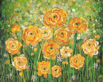 yellow ranunculus (11x14 print)