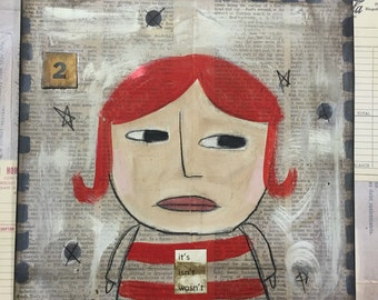 Ms. Velma 2- Original Folk Art -