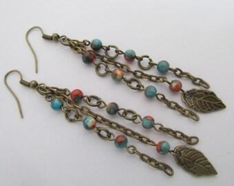 Chain Dangle Earrings - Boho Style