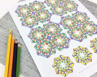Downloadable Coloring Pages,  Coloring Books for Adults, Celtic Knots and Kaleidoscopes to Color