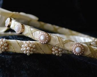 Orthodox Wedding Crowns, Greek Stefana, Gold Stefana, Gold Ivory Stefana, Greek Wedding Stephana, Pearl Stefana, Stefana Set, Koumbara
