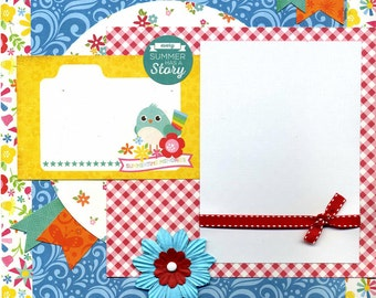 Every Summer Has a Story - 12x12 Premade Scrapbook Page