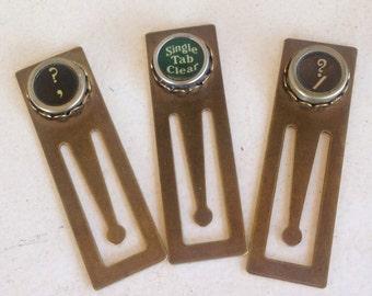 Vintage Typewriter Key Bookmarks
