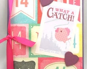 What A Catch - Handmade Anniversary/Love/Wedding Greeting Card