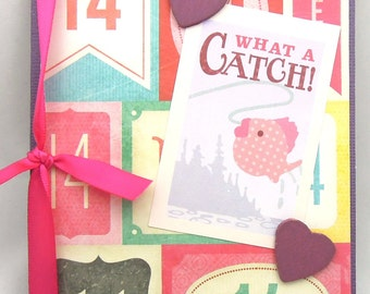 What A Catch - Handmade Anniversary/Love/Wedding Greeting Card