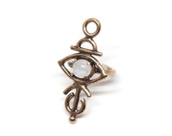 Sulis Ring // moonstone, lapis, turquoise, or red jasper