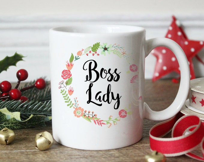 Boss Lady, Coffee Mug, Gift for Her, Christmas Gift, Boss Mug, Entrepreneur Gift, Direct Sales gift, Office gift, Cute coffee mug, SALE