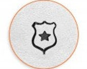 HEROES Design Stamp - POLICE SHIELD with STaR by ImpressArt - 6mm - includes How to Stamp Metal tutorial
