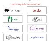 Planner Stamp Set, Planner Stamp, Planner Stamps, Custom Planner Stamp