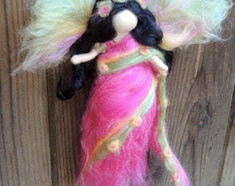 Wool Angel - India Fairy - Made to order- needle felted fairy- Waldorf-inspired