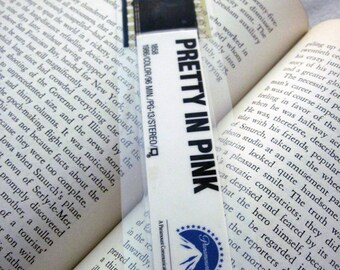 Pretty in Pink Recycled VHS Bookmark