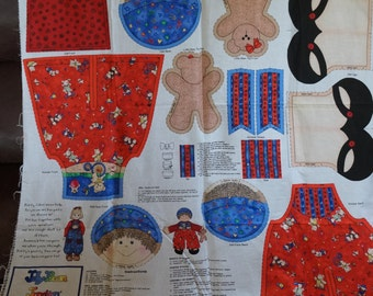 JellyBean Junction Patty Cakes Look A Likes Doll Fabric Panel
