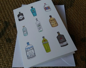 Giniatures (1 x greetings card)