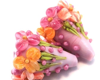 Peach Salsa Pink Garden Cones