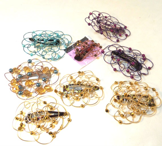Order for Diane - Snap Clip Barrettes - 7 Small Kippah for Girls/Women