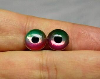Sale! 10mm Metallic irises color DuoMelon