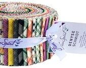 "SALE 50% Off Denyse Schmidt EASTHAM Design Roll 2.5"" Precut Fabric Strips Jelly Free Spirit"