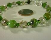 bracelet Chrysoprase and Honeydew