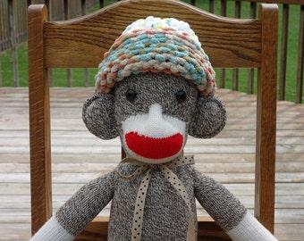 Rockford Red Heel Sock Monkey Doll - Original One of a Kind Sock Monkey