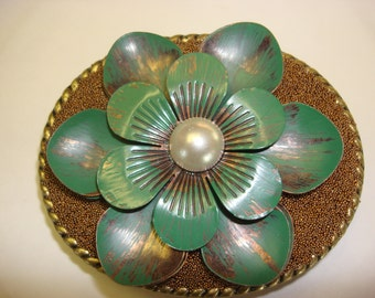 Womens Belt Buckle - Bloom