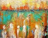 Abstract art, Spirits Among Us, nonrepresentational art, mixed media texture