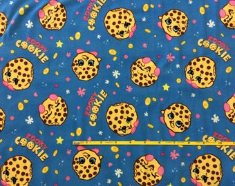 "NEW Kooky Cookie on cotton lycra knit fabric 96/4 58"" wide."