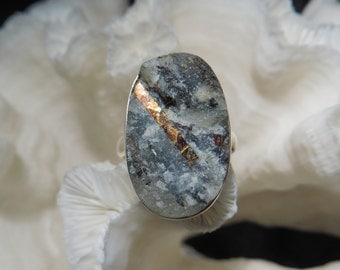 Iridescent Rough Astrophyllite Ring Size 8.75