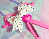 Scissor necklace, sewing scissors hair stylist gift fairy kei sweet lolita hairdresser