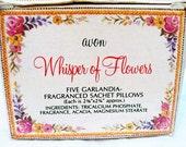 Vintage Avon Whisper of Flowers Sachets