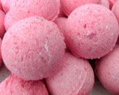 Cherry Vanilla Bath Bomb (handmade, exfoliates, soothes, moisturizes, gift idea 2.8 oz net, individually wrapped and labeled, Stardust Soaps
