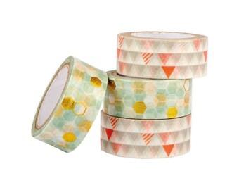 Geometric Neon Craft Tape Set Papermania 5m 4/Pkg (462241)