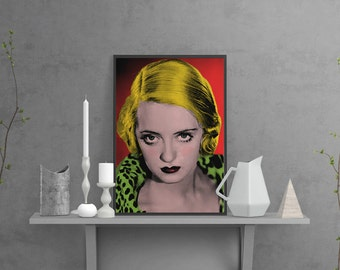 Art print - Giclée Art Print - A3 -  Bette Davis - Cinema poster