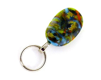 Magnetic ID Holder / Magnetic Eyeglass Holder Handmade with Lampwork Glass