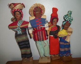 Folk Art Doll Family Latin American Dolls