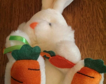 Sweet Vintage Carrot-top Easter Bunny Rabbit Stuffed Animal