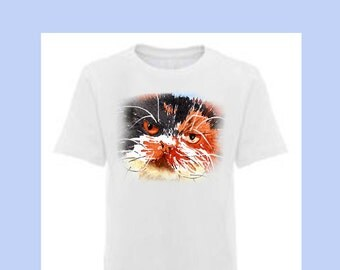 I'm Having a Bad Day Cat Shirt Cat kitty cat tee Tees T-shirt T shirt Cat t shirt Cat t-shirt Red Black Cat Illustration White T-shirt