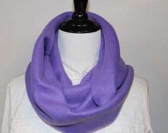 Women's Fleece Infinity Scarf Lavender