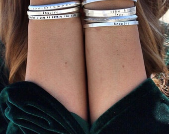 Say What You Want To Say -Say Anything On your cuff bracelets - Custom  personalized jewelry made in colorado by SimaG