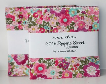 SALE 2 Packs 5 inch charm pack 2016 REGENT STREET LAWNs Moda Fabric