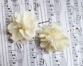 Wedding Hair Accessory /  Ivory chiffon Wedding Hair Flowers /  Wedding Hair Piece / Bridal Hair Accessories / Bridesmaids Hair